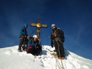 Tomáš Petreček (vpravo) na vrcholu Grossglockneru.